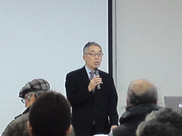 開始に先立ち挨拶する髙田東鍼会会長